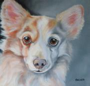 Corgi Drawings - You Are All Mine by Susan A Becker