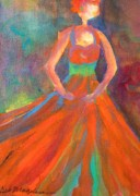 Orange Dress Prints - You Are Beautiful-Being Perky Print by Deb Magelssen