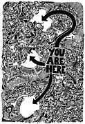 Steampunk Drawings - You Are Here 2 by Power City Images
