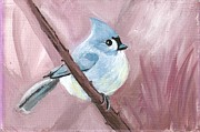 Bluejay Painting Metal Prints - You Are Important Metal Print by Jodi Richardson