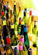 Wine Bottles Framed Prints - You are invited to a wine tasting... Framed Print by Margaret Hood