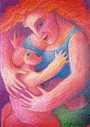 Spiritual Pastels Posters - You Are My Only One Poster by Angela Treat Lyon