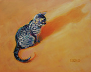 Tabby Paintings - You Are My Sunshine by Kimberly Santini