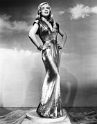 Gold Lame Photo Prints - You Came Along, Lizabeth Scott, 1945 Print by Everett