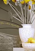 Interior Still Life Metal Prints - You Color My World Metal Print by Holly Kempe
