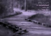You Knew My Path Print by Debra Straub