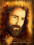 Jesus Mixed Media Framed Prints - You Love Them Framed Print by Shevon Johnson