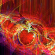 Orange Digital Art Originals - You Make Me Feel Whole by Michael Durst