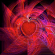 Abstract Hearts Digital Art - You Make My Heart Beat Faster by Michael Durst