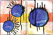 Affirmation Mixed Media Posters - You Matter Poster by Andrea Plotts