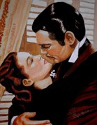 Clark Gable Framed Prints - You need Kissing Badly Framed Print by Al  Molina