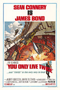 Newscanner Metal Prints - You Only Live Twice, Sean Connery, 1967 Metal Print by Everett