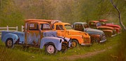Old Trucks Paintings - You Rest You Rust by Paul K Hill