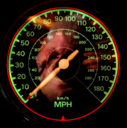 Speedometer Framed Prints - You Still Start From Zero Framed Print by James Granberry