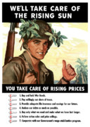 Ww11 Framed Prints - You Take Care Of Rising Prices Framed Print by War Is Hell Store
