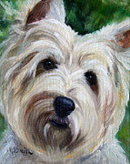 Canine Art - You Talking To Me by Mary Sparrow Smith