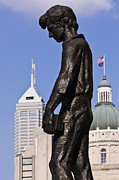Abe Photo Prints - Young Abraham Lincoln Statue Print by Jeremy Woodhouse
