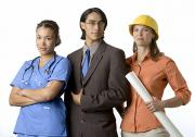 Businesspeople Prints - Young Adults With Careers In Medicine Print by Dawn Kish