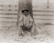 Jim Crow South Art - Young African American Sitting by Everett