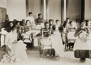 Segregated Schools Posters - Young African American Women Sewing Poster by Everett