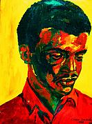 Portraits Paintings - Young African Man by Carole Spandau