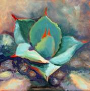 Southwestern Paintings - Young Agave by Athena  Mantle