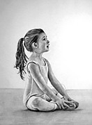 Ballet Drawings Originals - Young Ballerina by Maureen  Crofts