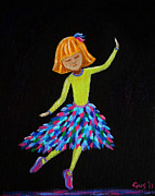 Bright Colors Art - Young Ballerina by Nick Gustafson