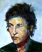 Bob Dylan Art - Young Bob Dylan  by Udi Peled