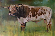 Longhorn Originals - Young Bull by Mary Leslie
