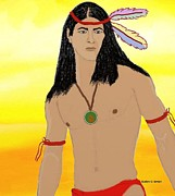 Evelyn O Simon - Young Cherokee male