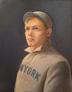 Rookie Paintings - Young Christy Mathewson by Mark Haley