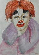 Betty Pimm Art - Young Clown by Betty Pimm