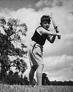 Sports Clothing Prints - Young Cricketer Print by Vilag