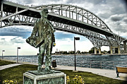 Edison Framed Prints - Young Edison at the Blue Water Bridge Framed Print by Ginger Harris