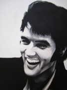 King Of Pop Prints - Young Elvis Print by Ashley Price