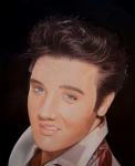 Elvis Drawings - Young Elvis by Gary Fernandez