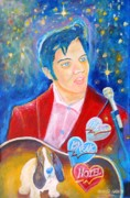 Young Elvis Paintings - Young Elvis Reigns by Arnold Grace