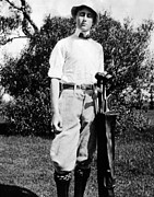 Youth Sports Prints - Young Franklin Roosevelt At On A Golf Print by Everett