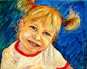 Young Pastels Prints - Young girl 2 Print by Amanda Dinan