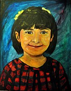 Young Pastels Prints - Young girl 4 Print by Amanda Dinan