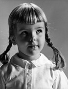 Young Girl Print by Hans Namuth and Photo Researchers