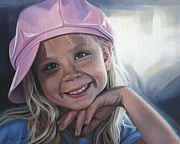 Steven Tetlow - Young Girl In Pink Hat