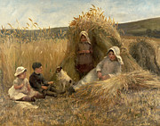 Young Boys Paintings - Young Harvesters by Lionel Percy Smythe