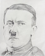 Adolf Drawings - Young Hitler by Daniel Young