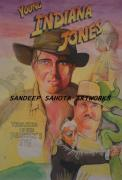 Chinese American Drawings - Young Indiana Jones by Sandeep Kumar Sahota