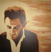 Original Paining Prints - Young Johnny Cash Print by Ashley Price