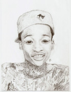 Rookie Drawings Prints - Young Khalifa Print by Jared Jurich