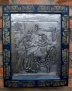 Pharaoh Reliefs Prints - Young Kings of Egypt. Print by Cacaio Tavares