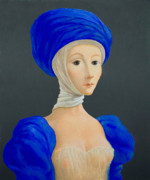 Turban Framed Prints - Young lady in medieval costume 2. Framed Print by Ipalbus Art